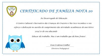 Certificado de Família 2019/2020